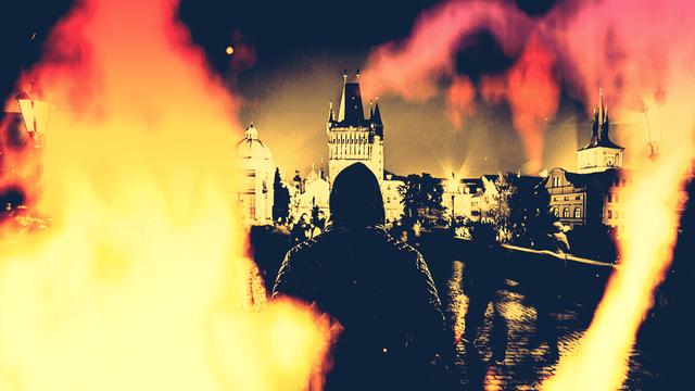 AviUtl、ノイズで炎を作る
