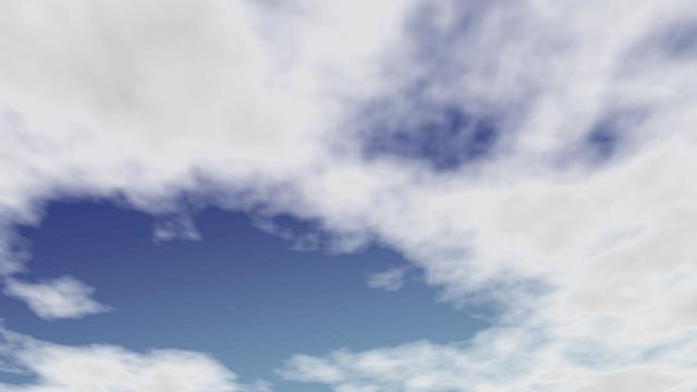 AviUtl、ノイズで雲を作る