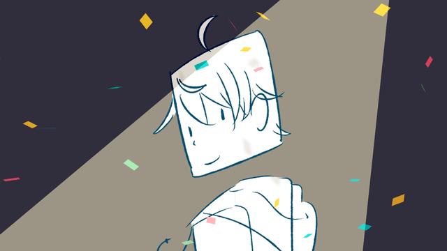 AviUtl、曲面変形で作る紙吹雪